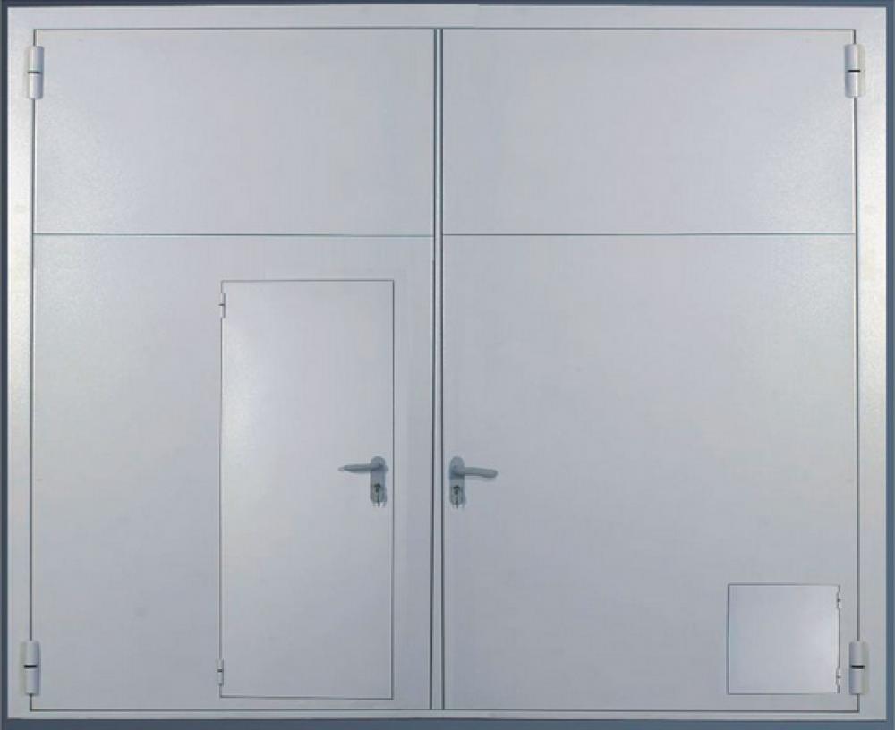 распашные металлические двери изготовление